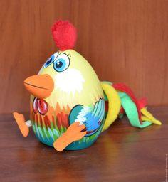 Купить Петушок качалка - комбинированный, петушок, из дерева, сувенир, подарок, настроение, авторская ручная работа