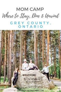 Mom Camp: More Places to Stay, Dine & Unwind in Grey County | Girlfriend Getaways Ontario| Wine Country Ontario | Scandinave Spa Blue Mountain Review | The Resting Place B&B Coffin Ridge Winery | #momcation #discoverON #SummerTravel