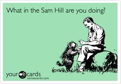 What in the Sam Hill are you doing?