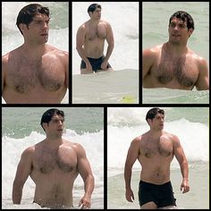 NEW: Henry Cavill shows off that Superman physique in Miami.  Via @JustJared…