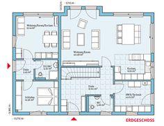 Einfamilienhaus mit einliegerwohnung modern  Variant 35-235 - EG - mit Einliegerwohnung | ideeung | Pinterest ...