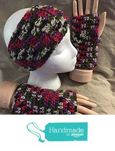 Crochet headband / ear warmer & texting/fingerless glove set - fits most teens & adults - Mixed purple, red & more - smoke free - pet free - free shipping to USA from PMSCRAFTS https://www.amazon.com/dp/B01KYD72H6/ref=hnd_sw_r_pi_dp_wldayb38JW9C4 #handmadeatamazon