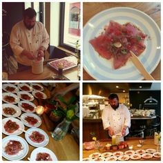 Live Ceviche by head chef Yann for wedding food station