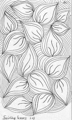 LuAnn Kessi: Quilting Sketch Book ..... feuilles tourbillonnantes