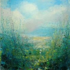 Buy 'Cornish Walk'  Limited Edition Print. Edition of 75, a giclee print on Paper by Sandy Dooley from United Kingdom. It portrays: Nature, relevant to: seascape, blue, white, cornwall, limited edition print, floers, green, impressionism, landscape, meadow This limited edition print is one of 75. It is 31x43.5, and the image is 26x26cm.It is signed, titled and numbered by me.  It is beautiful quality, on a highly calendered, whiter based fine art paper with a 285gsm base and an undula...