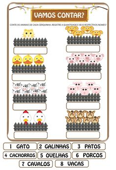 Blog com atividades escolares. Voltado para mães e professoras. Five Senses Preschool, Notebook, Blog, Animal Activities, Interactive Activities, Activities For Toddlers, Kids Learning Activities, 1st Grades, Bags