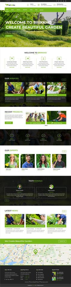 Brikkho is clean and modern design responsive #HTML5 template for #garden, #landscaping and lawn services website download now..