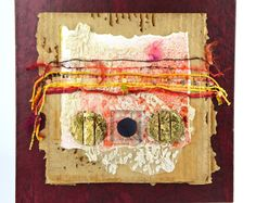 Fiber Art Collage Mixed Media Art hasytpearl by hastypearl on Etsy