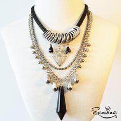 www.riesimona.com.ar Accesorios de Diseño Hair Jewelry, Jewelry Art, Fine Jewelry, Fashion Jewelry, Jewelry Design, Jewelry Making, Statement Jewelry, Gemstone Jewelry, Beaded Jewelry