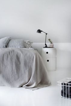 Via Pihkala | Bedroom | Kartell Componibili | Grey and White