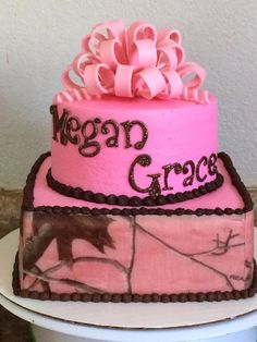 High Quality Pink Camo Baby Shower Cake (love The Boots On Top!) | Camo Baby Stuff |  Pinterest | On, The Ou0027jays And Pink Camo Baby