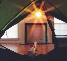I think I'm missing something here. #campingindoors