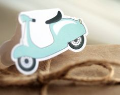 Holidays Vespa motocycle gift tags kit printable by Lafabriqueabricole on Etsy.