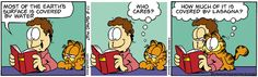 As always, Garfield and his lasagna.