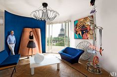 Didier and Clémence Krzentowski of Galerie Kreo Fill a Paris Apartment with Incredible Art | Architectural Digest