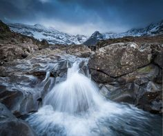 The landscape world of photographer Thomas Heaton  (Pictured above) The Fairy Pools of the Black Cuillins Hills in Skye.
