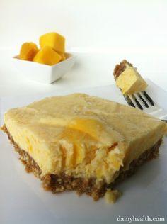 *New Post- Skinny Mango Cheesecake Bites! This recipe is no-bake, gluten free, skinny, light, 5 minute prep and tropical fruit fun! http://www.damyhealth.com/2012/02/skinny-mango-cheesecake-bites/