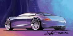 Car Sketches by Jamie Seymour, via Behance
