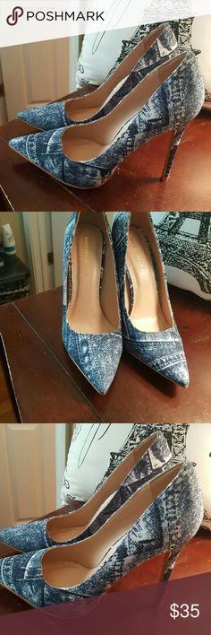 Pumps Blue Jean pumps Shoes Heels