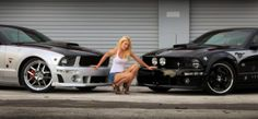 Sabrina Schmidt love Mustangs, and her own car lead her to finding the love of her life, a man who also loves the same cars as her. Sabrina is also an avid equestrian using her Stang to get to barns and shows. Mustang Girl, Ford Mustang, Super Sport Cars, Ford Shelby, Girl Model, Hot Cars, Pretty Girls, Dream Cars, Antique Cars