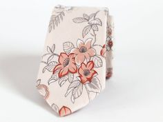 Dusty Blush Floral Mens Ties Wedding Skinny Ties Dusty Blush | Etsy