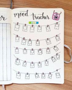 bullet journal mood tracker   polaroid
