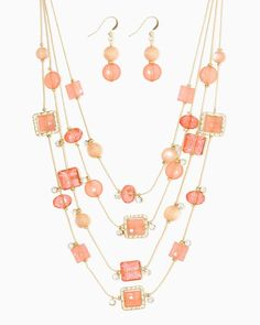 charming charlie | Floating Glass Necklace Set | UPC: 400000184173 #charmingcharlie
