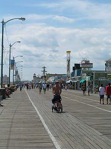 Ocean City, New Jersey: a summer resort where Grace Kelly (later Princess Grace of Monaco) summered with her family as a child.