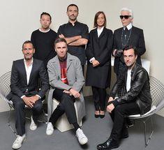 Humberto Leon, Riccardo Tisci, Phoebe Philo, Karl Lagerfeld, Marc Jacobs, Raf Simmons, and Nicolas Ghesquière