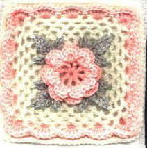 Irish Rose Square: free pattern