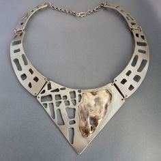 Metal clay collar by Laurence Balbeck.