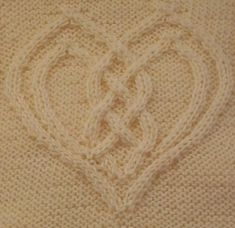 Ravelry: Cabled Heart by Devorgilla's Knitting (sometimes...)