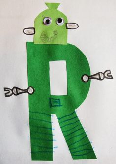 Letter of the Week: R - plus FREE R is for Robot Printable - Proverbs 31 Woman Letter R Activities, Preschool Letter Crafts, Alphabet Letter Crafts, Abc Crafts, Daycare Crafts, Alphabet Book, Learning Letters, Kindergarten Activities, Preschool Activities