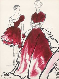 Madame Grès & Givenchy, Pierre Simon, 1949