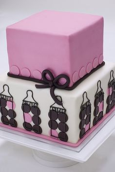 Baby Bottle Cake by studiocake   Adorable
