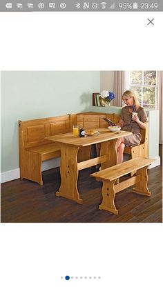 Buy Puerto Rico 3 Corner Bench Nook Pine Table and Bench Set at