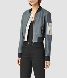 Wells Leather Bomber Jacket