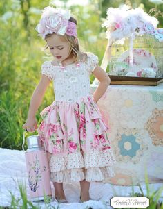 fairytale frocks and lollipops :: foofoo threads, jocelyn thurm, sugarplum princess dress, girl, baby, infant, toddler, tween, girls dress pattern, children's sewing pattern, boutique, special occaison, frilly, feminine, party, birthday, wedding, holiday, ruffle, shirr, back tie, bow, big bow, panel, double skirt, cap sleeve, off the shoulder, vintage, sewing, instant, digital, download, pdf, e-pattern, e-book, epattern, ebook, tutorial, digipattern, spring, fall, summer