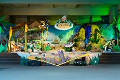 Group's main stage concept for Shipwrecked VBS! Explore more decoration ideas at Concordia Supply!