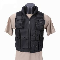 37b19b22ad941 Police Tactical Vest Outdoor Camouflage Military Body Armor Sports Wear Vest  Army Swat Vest Black For Outdoor Hunting