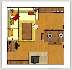 Eklektický domov: Návrh obývacího pokojeMůj první projekt interiérov...