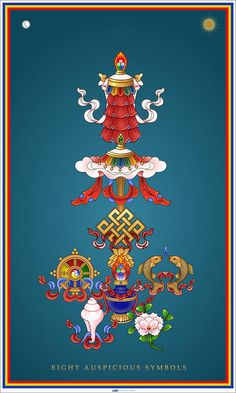 Eight Auspicious Symbols Canvas Print / Canvas Art by Fred Van der Zee