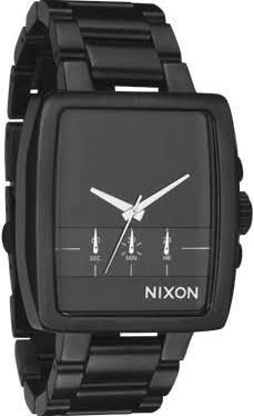 Nixon Men's 'The Axis' Gunmetal Plated Stainless Steel Chronograph Watch Grey, Size 30