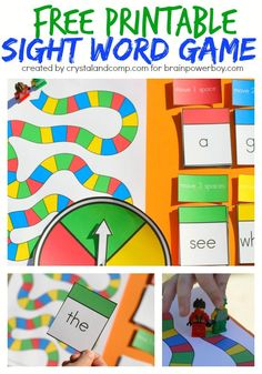 Free Printable Sight Word Game. Uses LEGO Minifigs!
