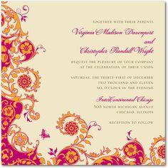 "Wedding Paper Divas, ""European Swirls"" in Azalea  Approx 2$ per set for 50 with quantity discounts."