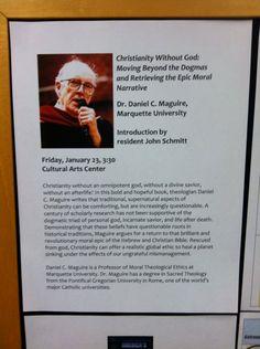 Flyer at St. John's on the Lake American Religion, Marquette University, St John's, Morals, Savior, Christianity, Faith, Books, Salvador