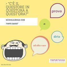 settimana Scioglilingua italiani: difficili ma divertenti 😁giorno5 #nanarossa