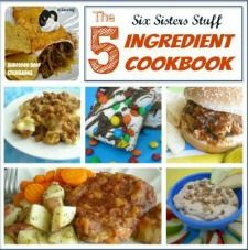 The newest eCookbook from SixSistersStuff: The 5-Ingredient Cookbook! All 30 recipes use 5 ingredients or less and taste amazing. We are all about easy and delicious! Only $2.47