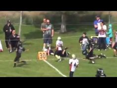 9 year old Sam(antha) Gordon plays tackle football and is is amazingly fast! She scored 35 times and ran for 1,911 yards, averaging 8.2 yards per carry. Here is the link to the new video http://www.youtube.com/watch?v=-AkQFpimCN0  #Sam_Gordon #Football #Girl