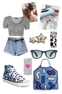 Casual n' Chic by akiramglam on Polyvore featuring polyvore, fashion, style, Topshop, Converse, STELLA McCARTNEY, Lanvin, Ray-Ban, ban.do and Moschino